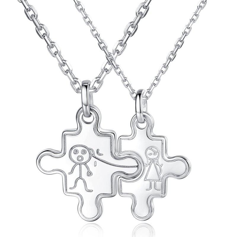 925 Silber Mode Boutique Paar Halsketten
