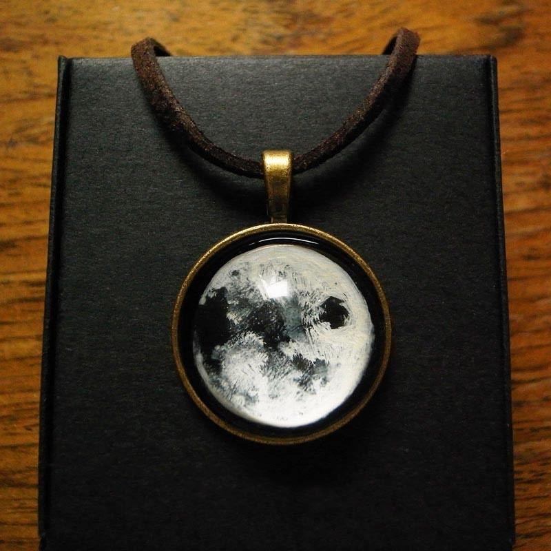 Beliebteste Reine Handgemachte Mondzeit Edelstein Halskette Für Damen