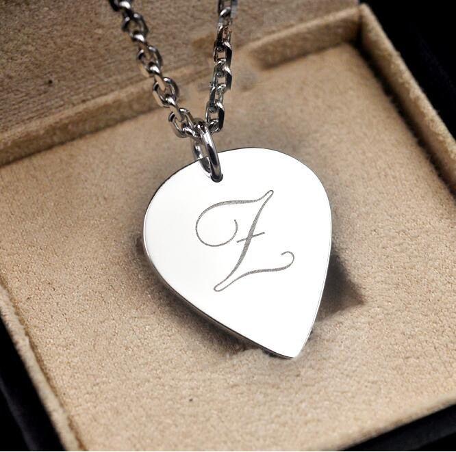 Benutzerdefinierte 925 Silber Gitarre Pick Halskette