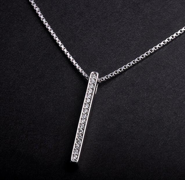 Benutzerdefinierte 925 Silber Lange Halskette