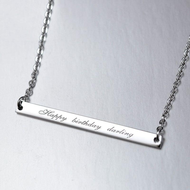 Benutzerdefinierte 925 Silber Schlüsselbeinkette