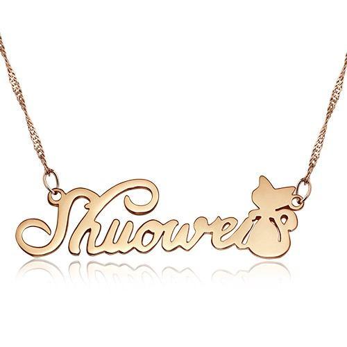 Benutzerdefinierte Namensbuchstabe 925 Silber Halskette
