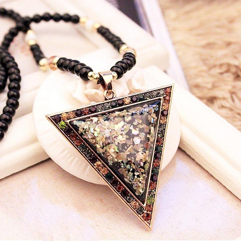 Charmante Dreieckige Langkettige Pulloverkette Für Damen