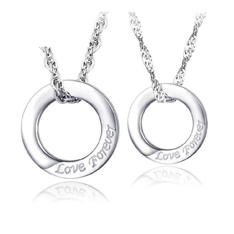 Ewige Liebe 925 Silber Paar Halsketten