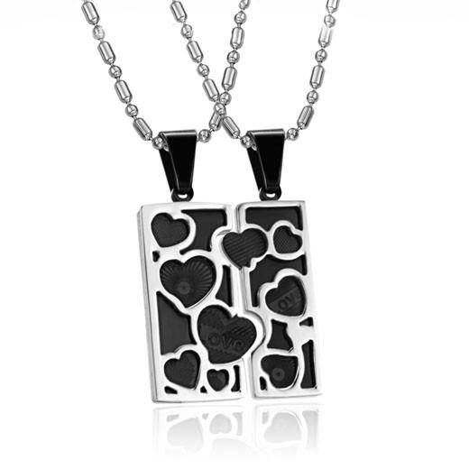 Fashion Love Puzzle Edelstahl Liebhaber Halskette (Preis Für Ein Paar)