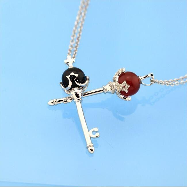 Magischer Schlüssel Ein Paar Halsketten