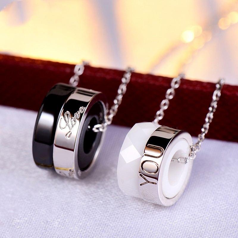 Neue Persönlichkeit Koreanische Paar Halsketten