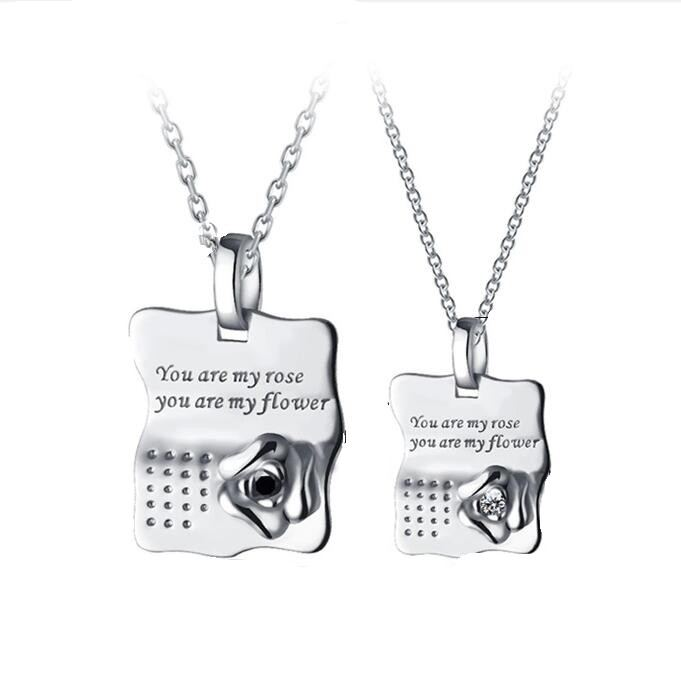 Paar Halsketten Aus Sterlingsilber