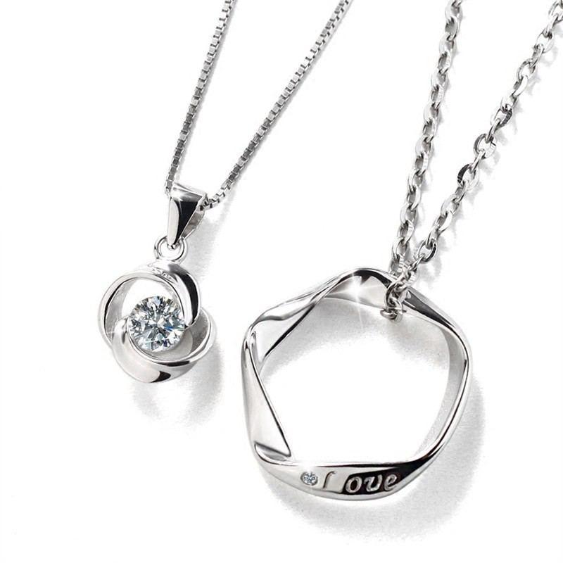 Romantischer Kreativer Stil S925 Silberliebhaber Halsketten