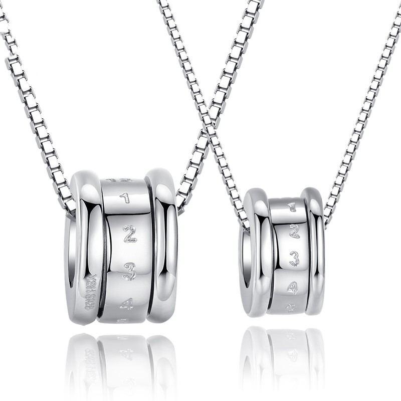 S925 Silber Transport Paare Halsketten