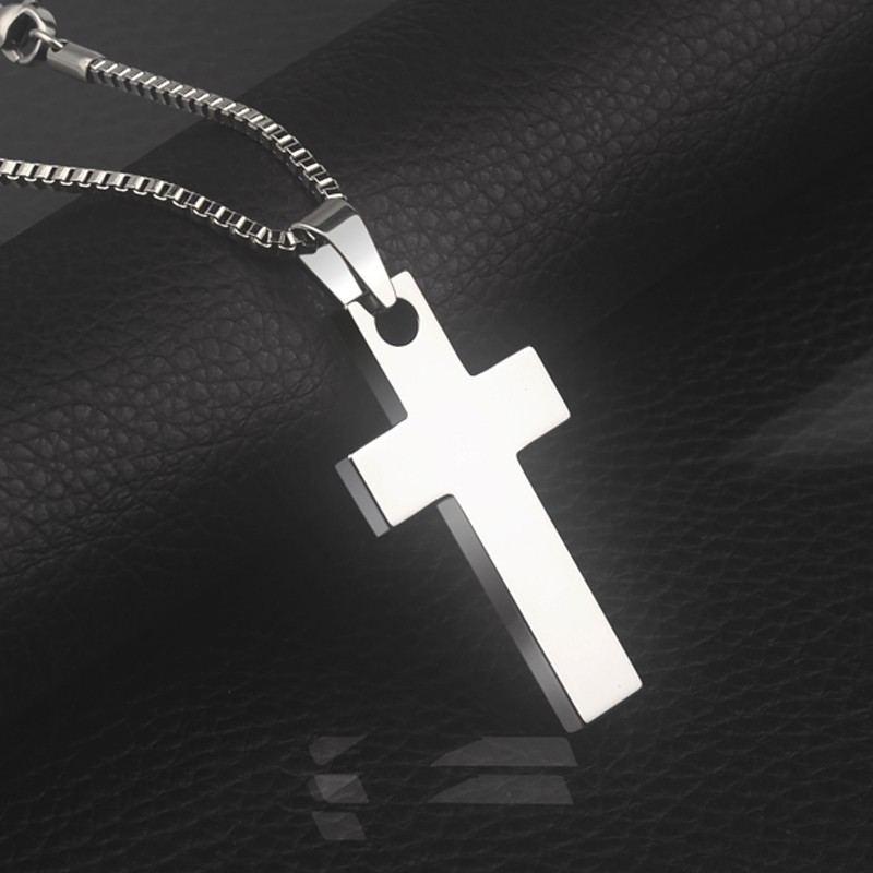 Vergoldete Herren-Kreuzkette