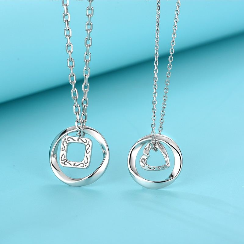 Vorgestellten S925 Silber Mode Herzförmige Liebhaber Halsketten
