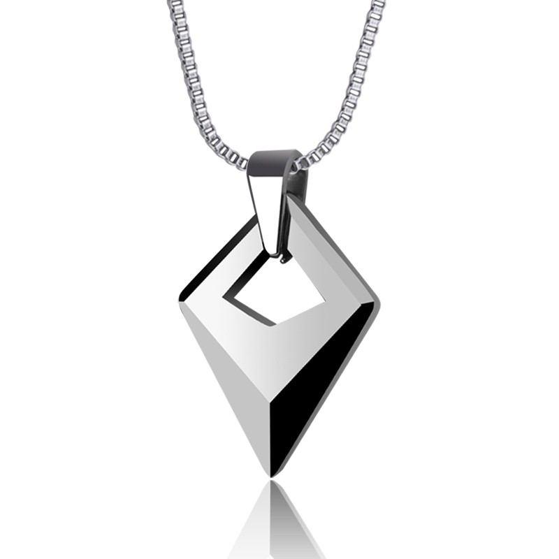 Wolfram Gold Anhänger Herren Halskette