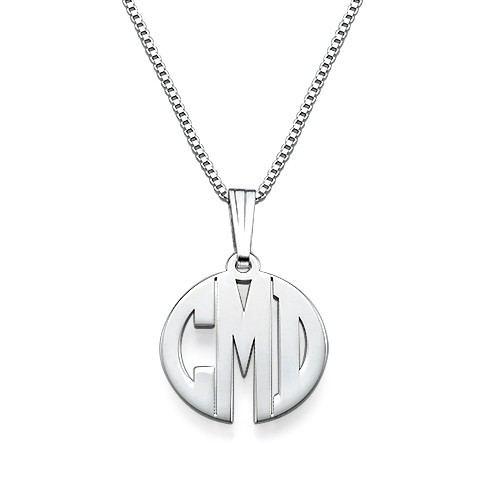 Xs Block Monogramm Halskette In Silber