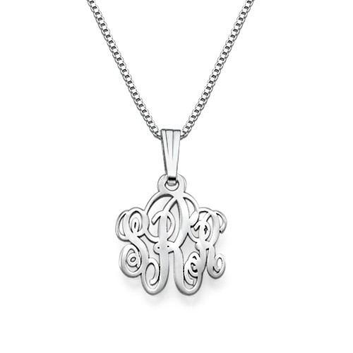 Xs Silber Monogramm Halskette