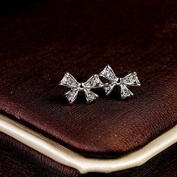 Coolste Süße Kristall Bowknot Damenmode Ohrring