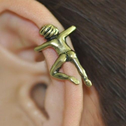 Einzigartige Gotische Figur Ohne Ohrlochstechen Allergikerfrei Einzelne Damenohrmanschette
