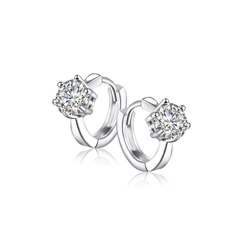 Elegante Temperament Persönlichkeit 925 Silber Mode Ring Ohrringe