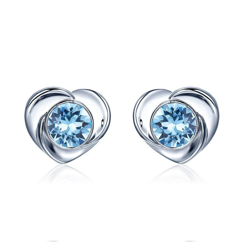 Elegante Und Raffinierte Koreanische Herzförmige Ohrringe
