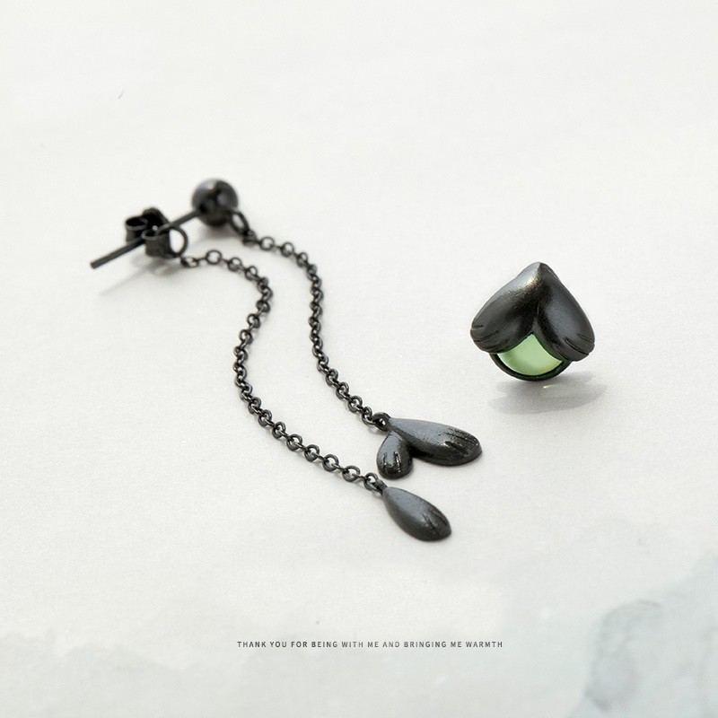 Glühwürmchen S925 Sterlingsilber Ein Paar Schwarze Ohrringe Für Mädchen Teenager Jungen Studenten Damen