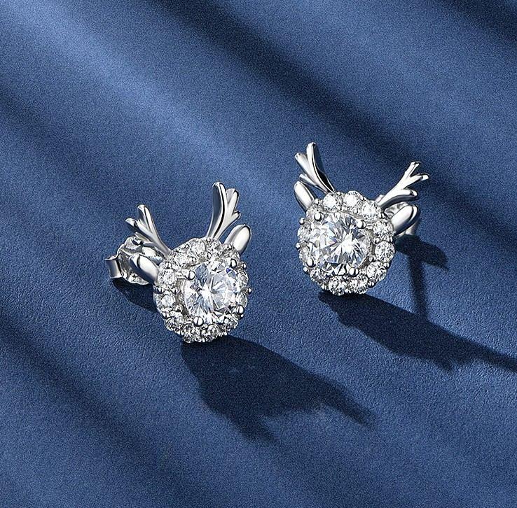 Kleine Elchohrringe Aus Sterlingsilber Ein Paar Ohrringe Für Mädchen Teenager Jungen Studenten Damen