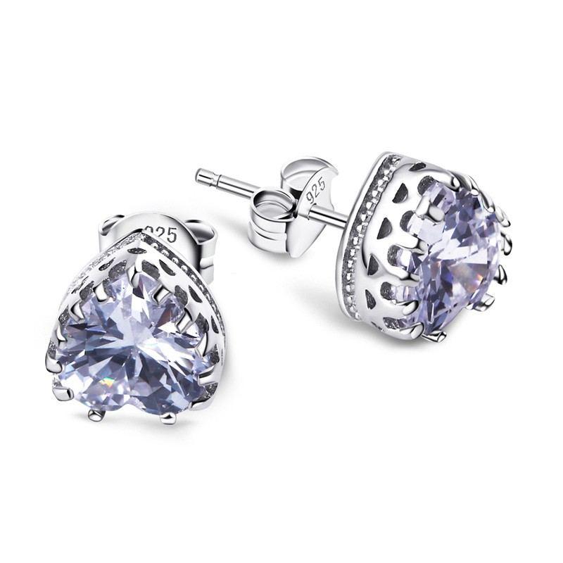 Mode Wild 925 Silber Exquisite Hypoallergene Herzförmige Ohrringe
