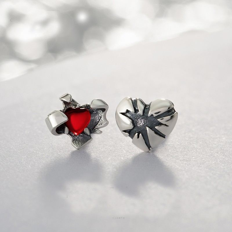 Offenes Herz S925 Sterlingsilber Ein Paar Ohrringe Für Mädchen Teenager Jungen Studenten Damen