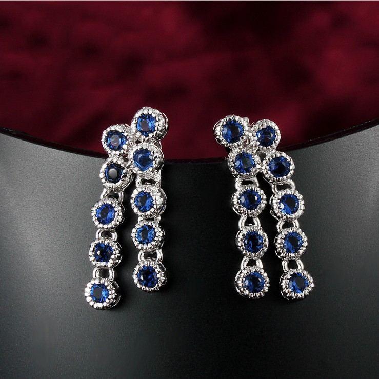 Vintage Europa Mode Kristall Mit Quaste Ohrringe