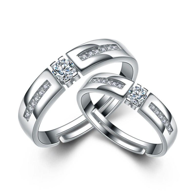 Koreanische Herren Und Damen Den Gleichen Absatz 925 Sterling Silber Paar Ringe